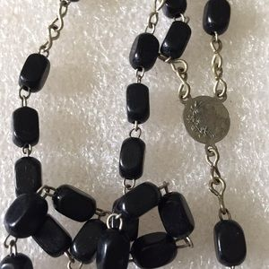 Vintage Jewelry - Vintage sterling Roma rosary necklace